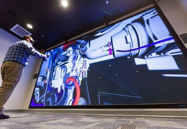 Christie VR System at AGCO