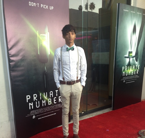 RJ Tolson on the Red Carpet at the Private Number Movie Premiere