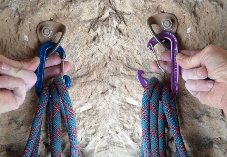 "Gear editor Cam Ring performs the ""three-rope"" test on two products."