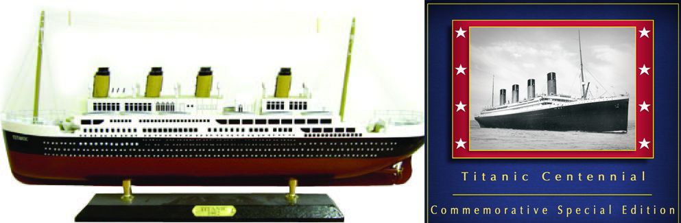 RMSTitanic Model Ship and CD