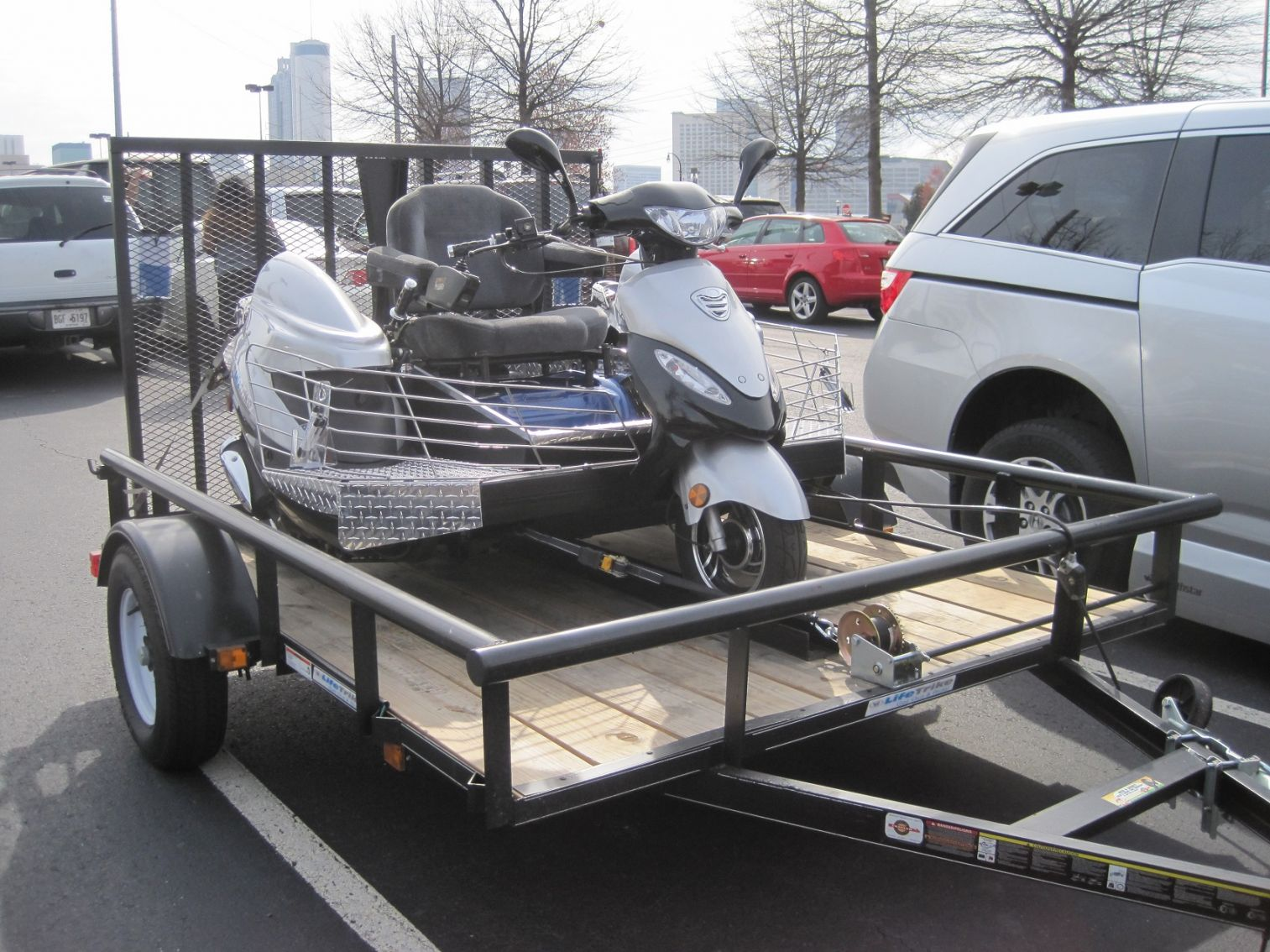 LifeTrike with trailer
