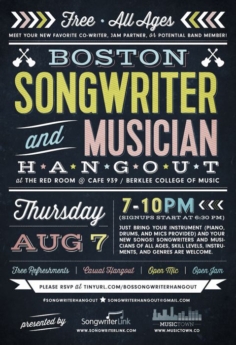 Boston Songwriter and Musician Hangout