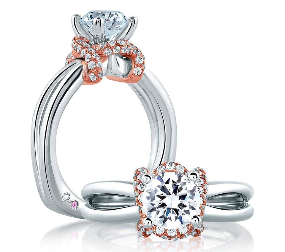 A Jaffe Diamond Engagement Ring