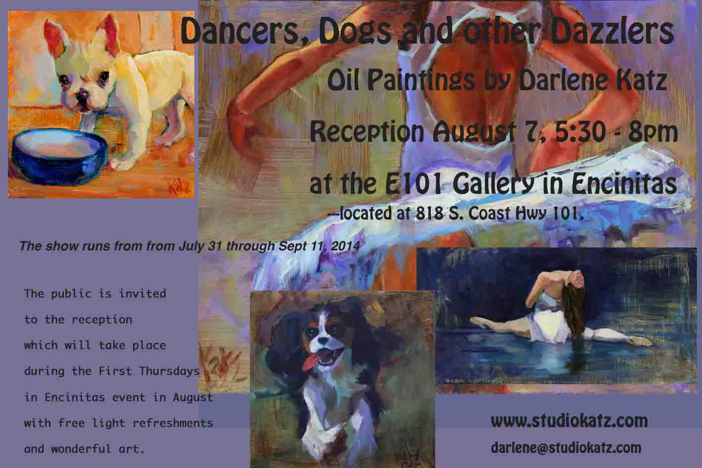 Some paintings for the Dancers & Dogs & other Dazzlers Exhibit