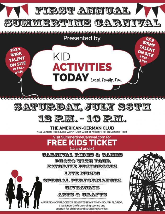 Summertime Carnival by Kid Activities Today