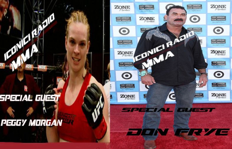 Peggy Morgan and Don Frye Iconici Radio MMA