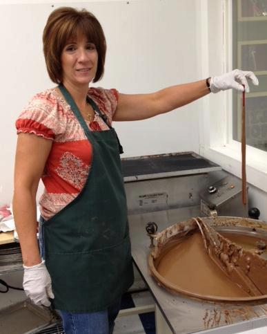 Susan Hordych of Suzi's Sweet Shoppe is working on new homemade chocolates