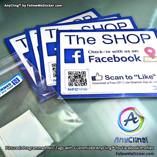 "AnyClings™ with NFC Tags for ""The Shop"" Barbershop facebook.com/theshoponerie"
