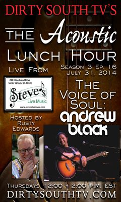 Andrew Black on The Acoustic Lunch Hour