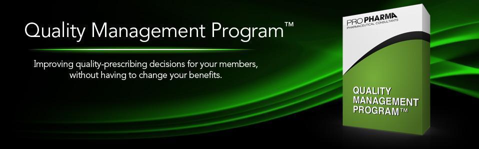 Pro Pharma Quality Management Program™