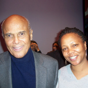 Mischelle Leathers and Harry Belafonte