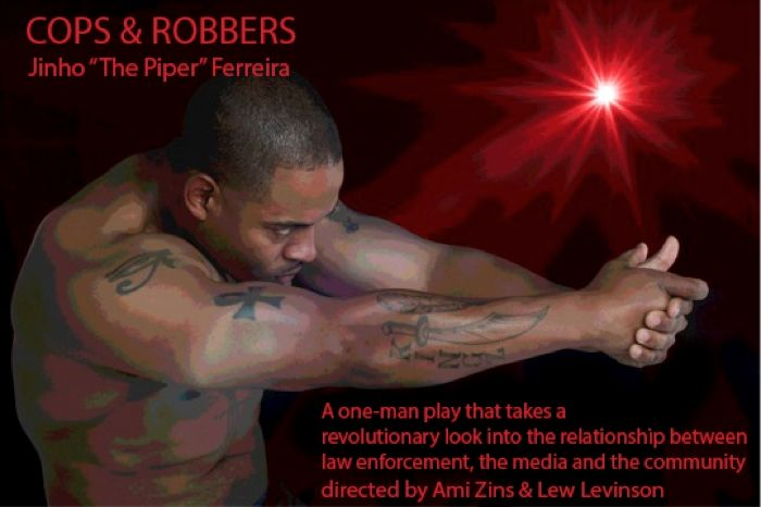 """Cops and Robbers"" at the Marsh Theater Berkeley, August 8-September 13."