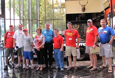 LuMind' Race for Research Teams with the Ragan Family at Dale Earnhardt Museum.