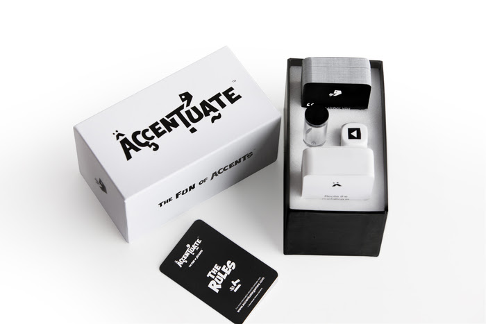 The Accentuate game packaging by every1