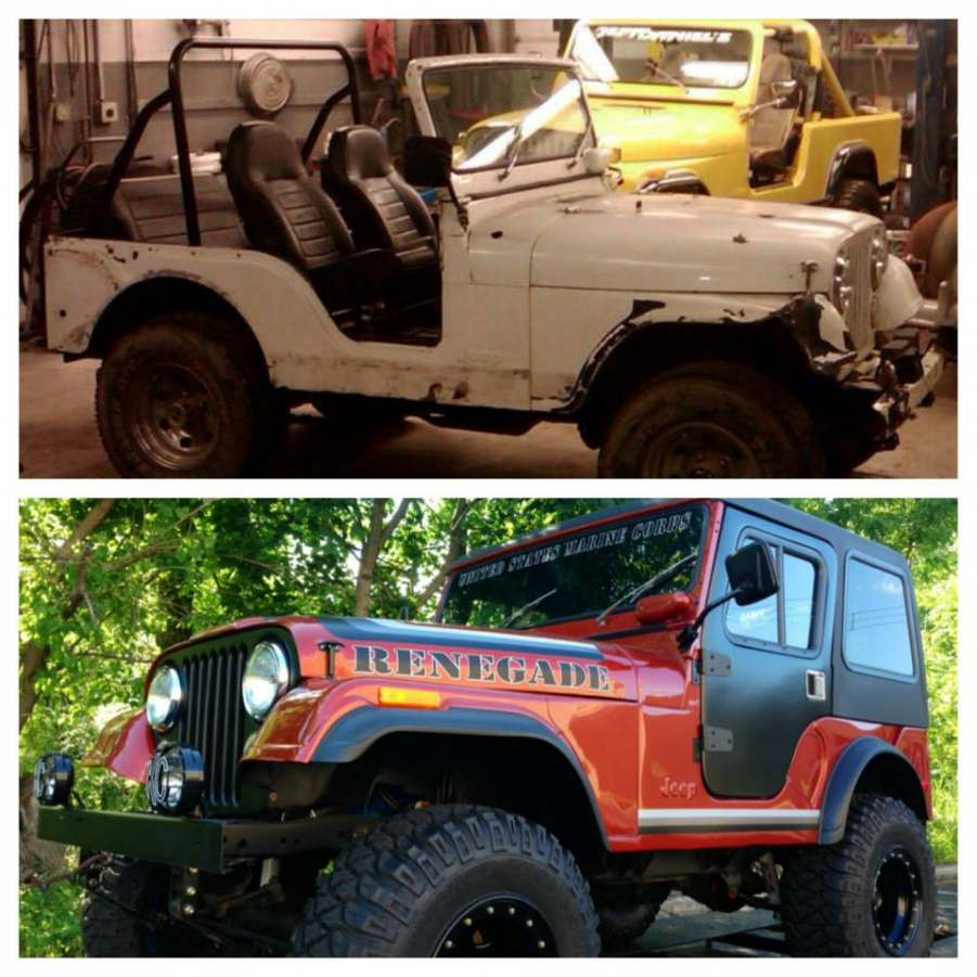 Jeep Resto - Before and After