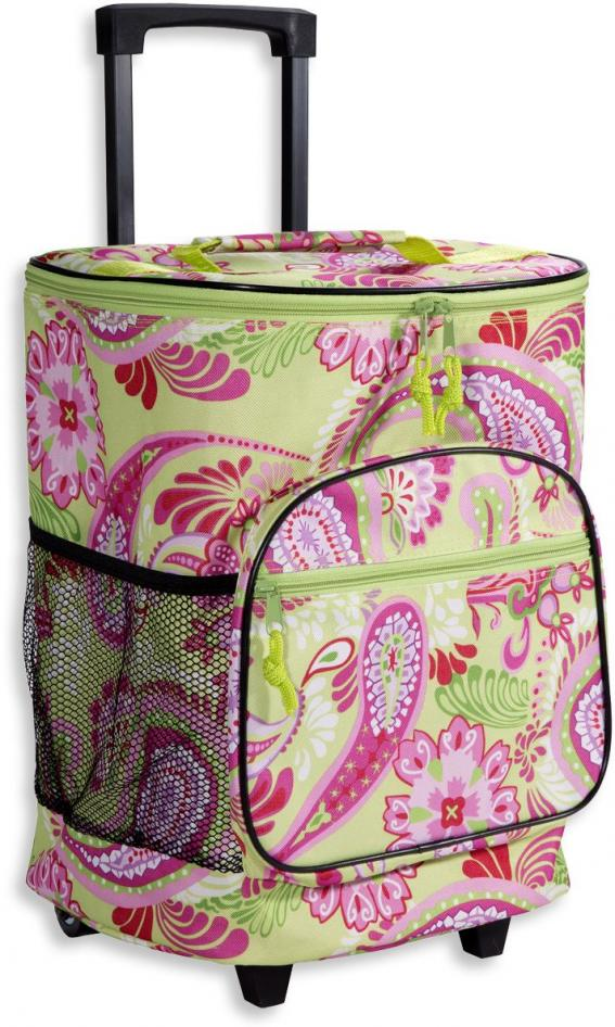 Rolling Insulated Cooler Tote