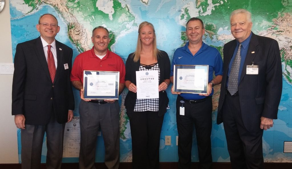 """Roeslein & Associates Supervisors Receive """"Patriot Award"""" for Supporting Troops"""