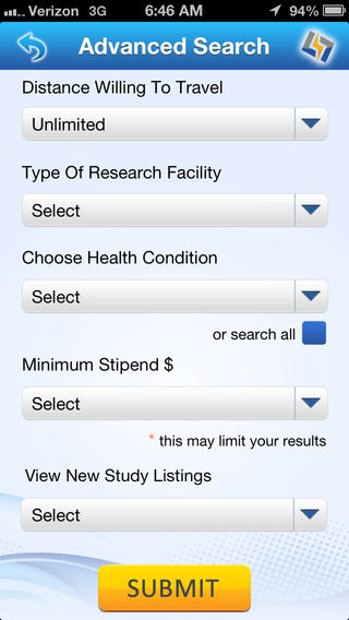 clinical trial recruitment mobile app