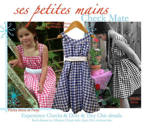 Ses Petites Mains offer savings on Alfresco Check styles