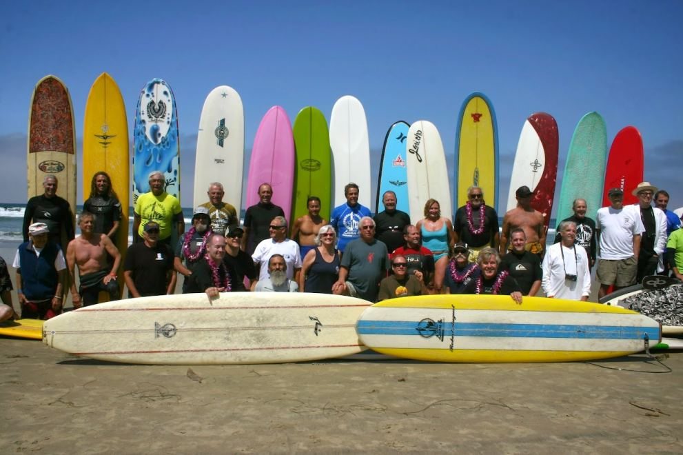 Surf legends and community members team up for a friendly competition