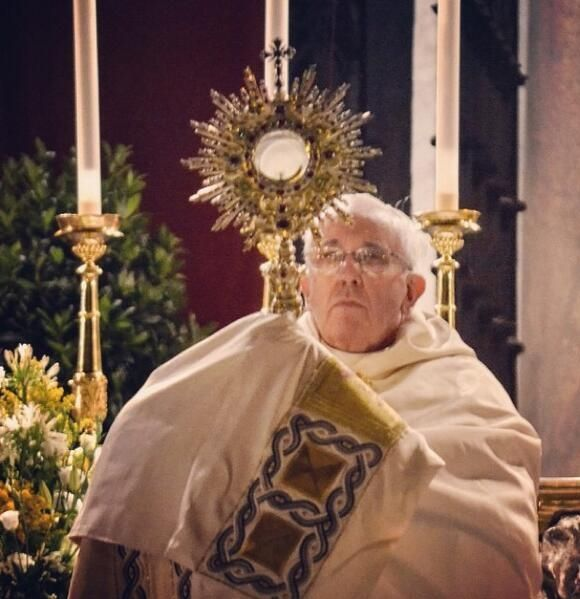 Pope Francis on the feast of Corpus Christi