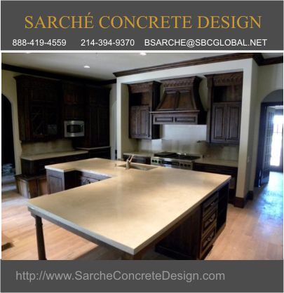 High Quality Concrete Countertops in the Dallas Area