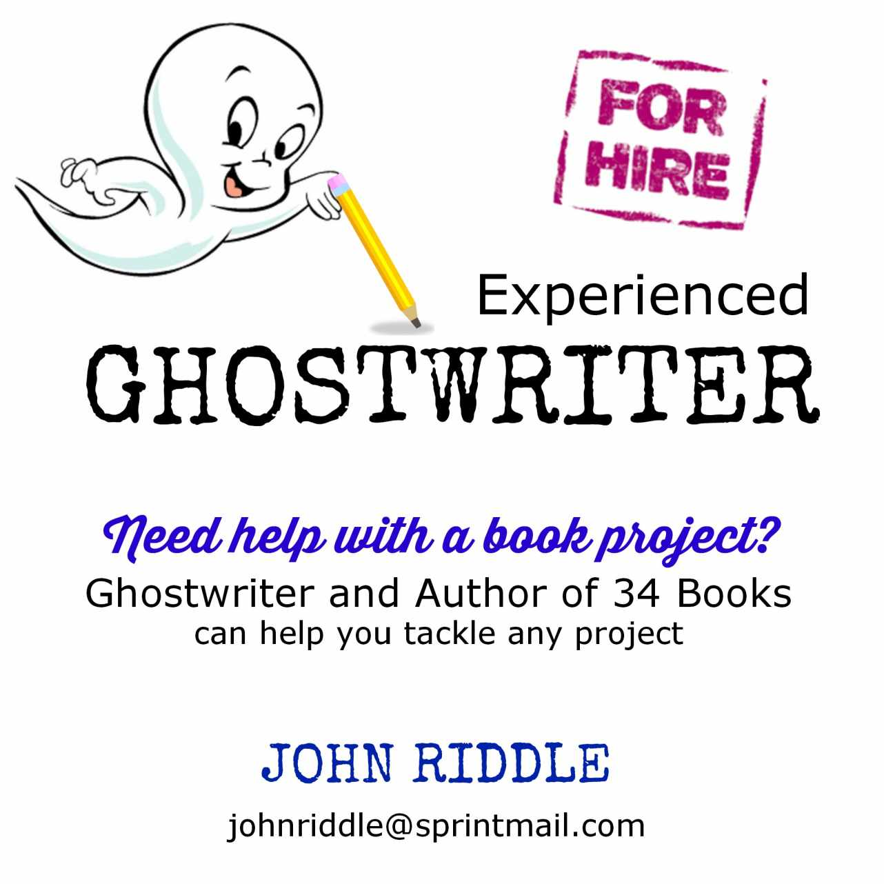 Ghostwriting ad new