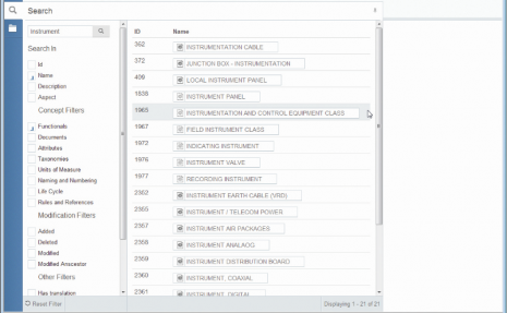 ISM - search function