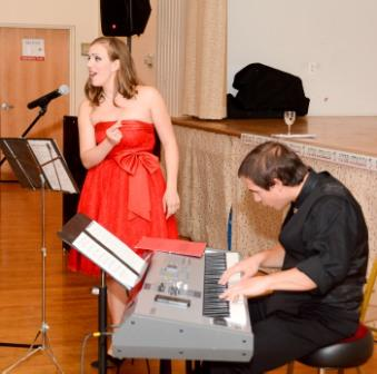 Joanna Latini and accompanist Michael Bernabe.