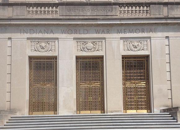 Indiana War Memorial Restored with Hope's® Custom Bronze Doors