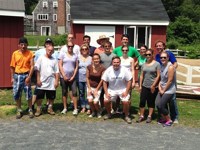 KAF staff volunteer at Cobblestone Farm