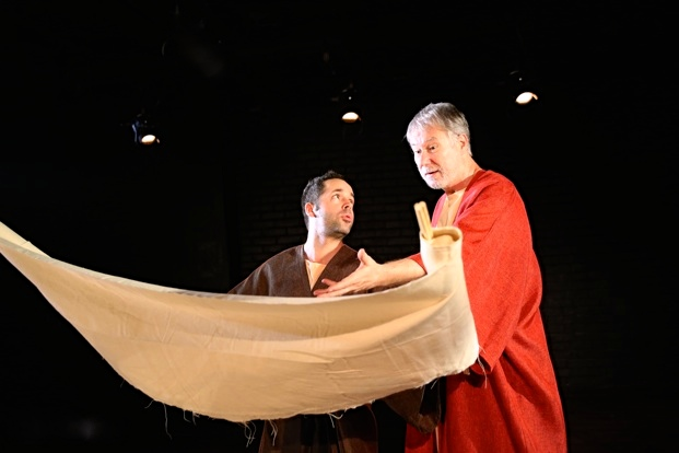 Moses The Author with Bible Scroll at Fringe NYC - Andrew Heinze