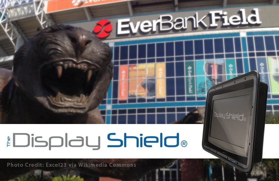 The Display Shield - EverBank Field (protective signage at Jacksonville Jaguars)