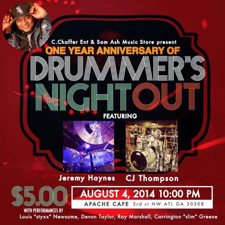 Drummer's Night Out At Apache Cafe