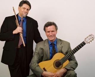 Peter H. Bloom/Mark Leighton Flute and Guitar Duo (photo Matt Samolis)