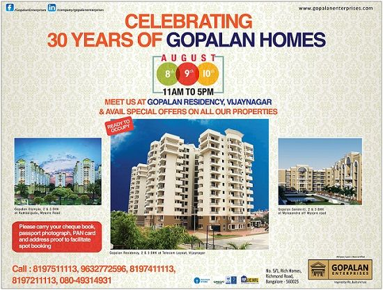30 Years of Gopalan Homes