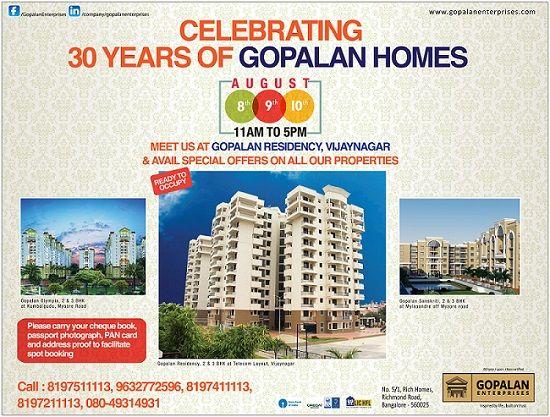 30 Years of Gopalan Homes