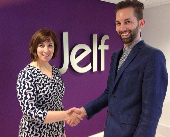 Natalie McClean, Jelf Group (L) and Matthew Leavesley, People Experts (R)