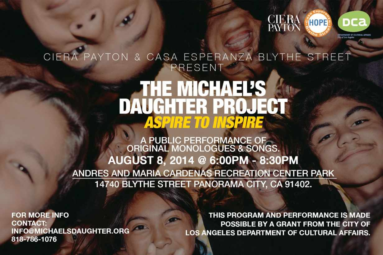 """""""The Michael's Daughter Project: Aspire to Inspire"""""""