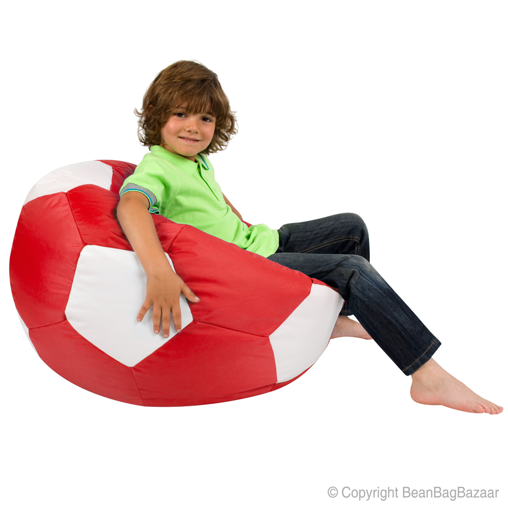 Kids Football Bean Bag - red