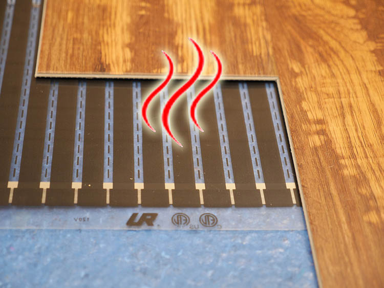 Introducing Perfectly Warm Radiant Heat Film For Under Floating Wood