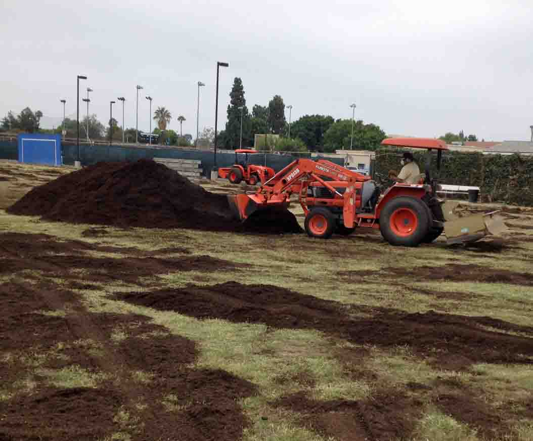 Fullerton College's soccer field gets a makeover.