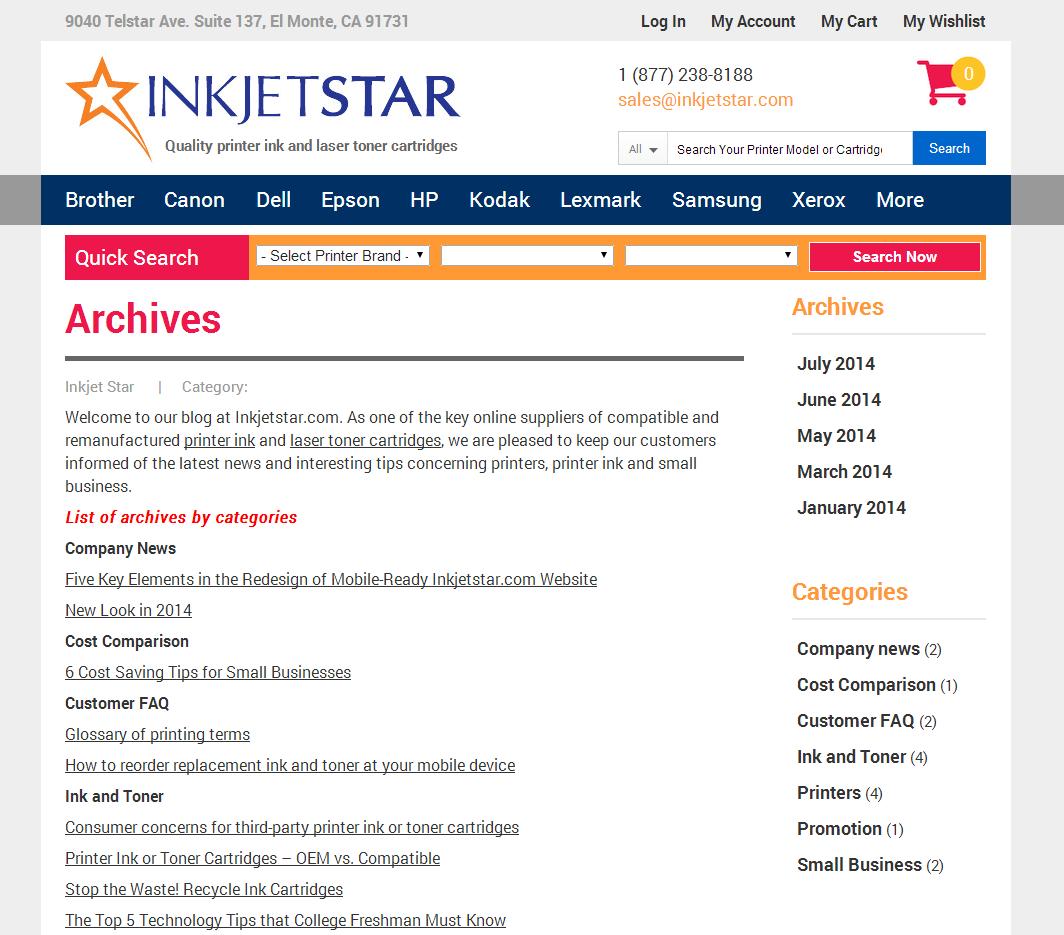 Blog by Inkjet Star Archives