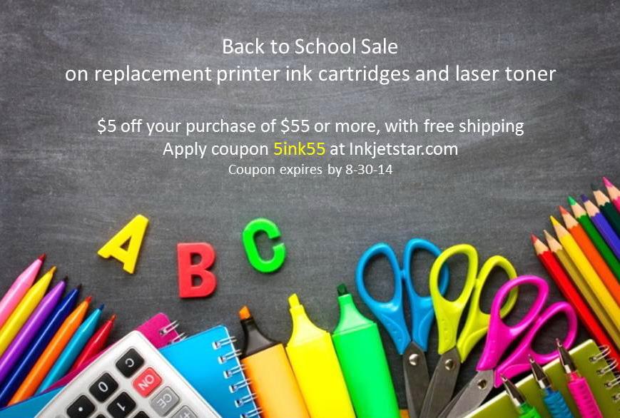 Inkjetstar.com Back to School Promo 2014