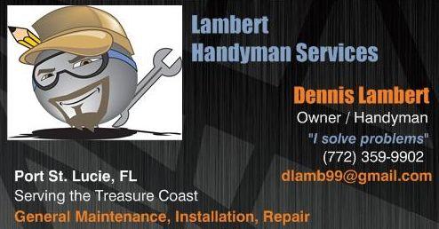 Lambert Handyman Svs Card frnt