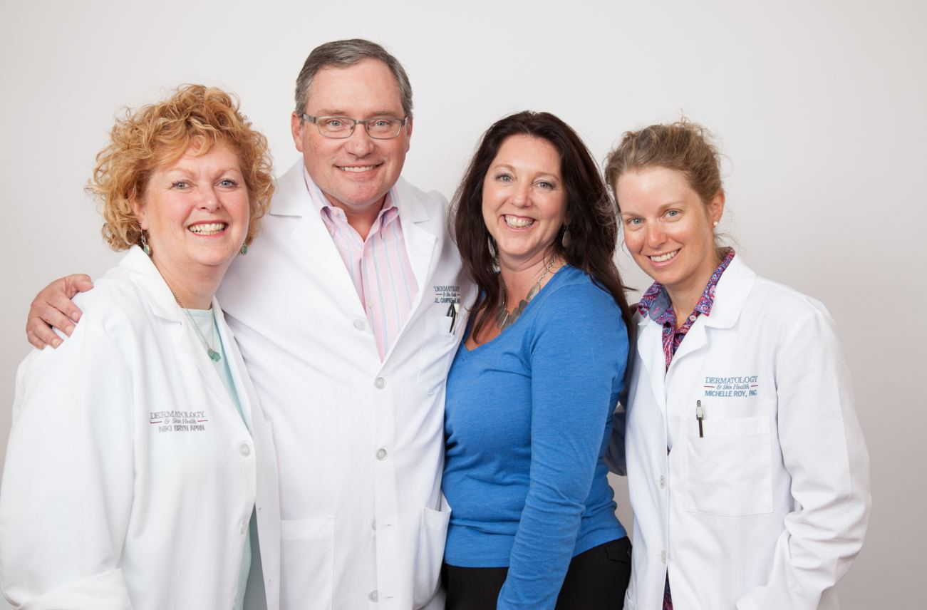 Niki Bryn, APRN; Dr. Campbell; Laurie Seavey, practice mgr; Michelle Roy, PAC