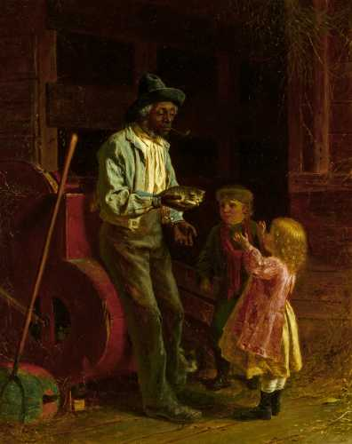 This painting by Thomas Waterman Wood, titled The Kitten, will be sold Oct. 23.