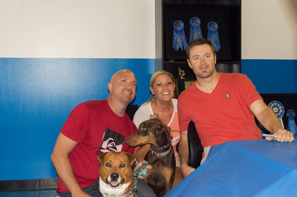 Baltimore pitcher Chris Tillman with TK9 fans and their dogs