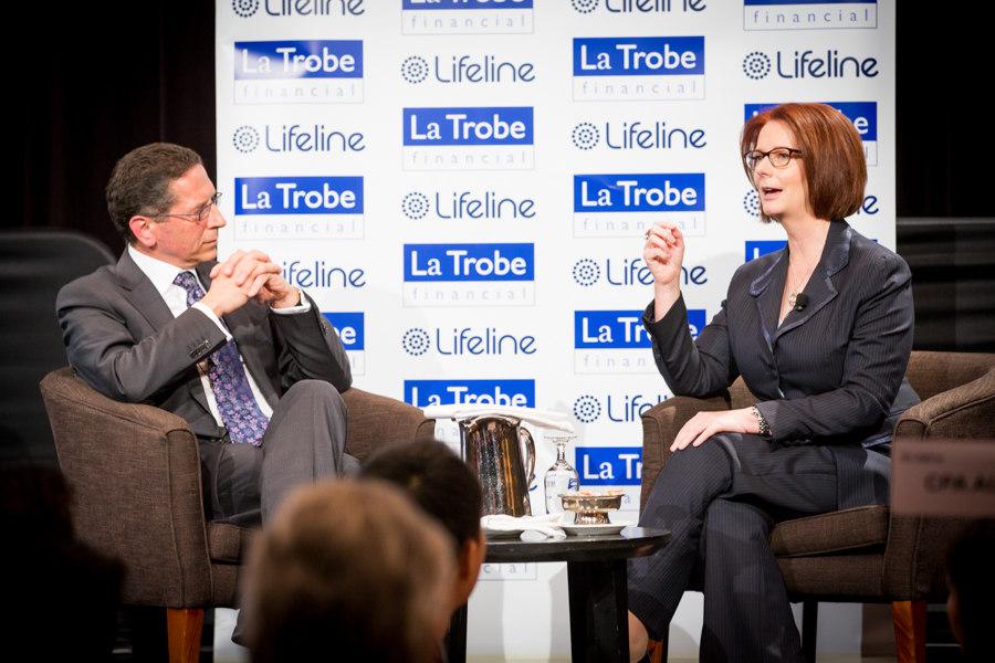 Julia Gillard, former Prime Minister of Australia, speaking at Lifeline luncheon