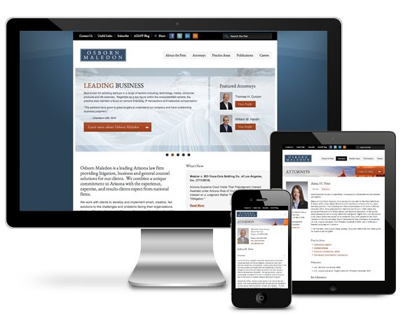 I-ology Launches Responsive Osborn Maledon Law Firm Website